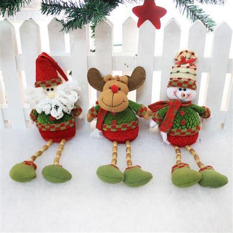 santa claus snowman reindeer 26x13cm doll home