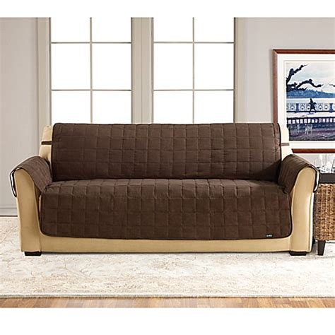 waterproof sofa slipcovers sure fit 174 waterproof sofa slipcover in chocolate