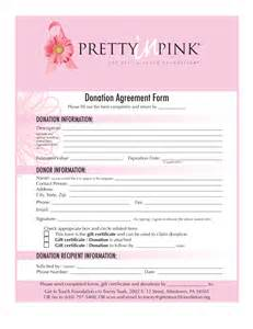 donation agreement template resources for your quot pretty in pink quot event get in touch