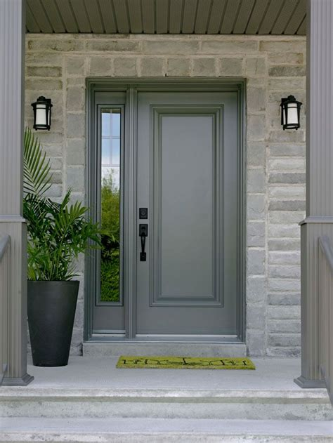Front Door With Sidelight Single Front Door With One Sidelight Images Front Doors Grey Front Doors