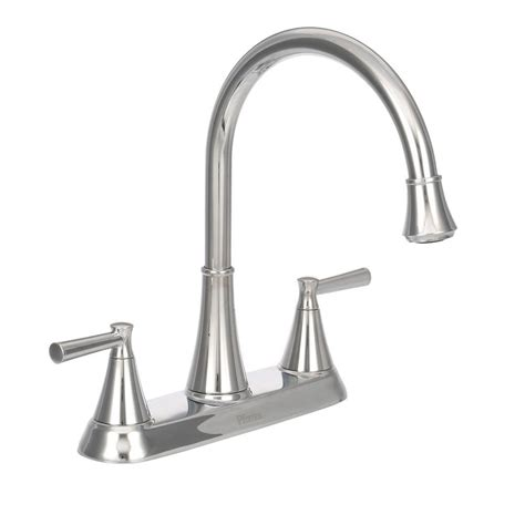 Kitchen Faucets Pfister Pfister Cantara High Arc 2 Handle Standard Kitchen Faucet With Side Sprayer In Polished Chrome F