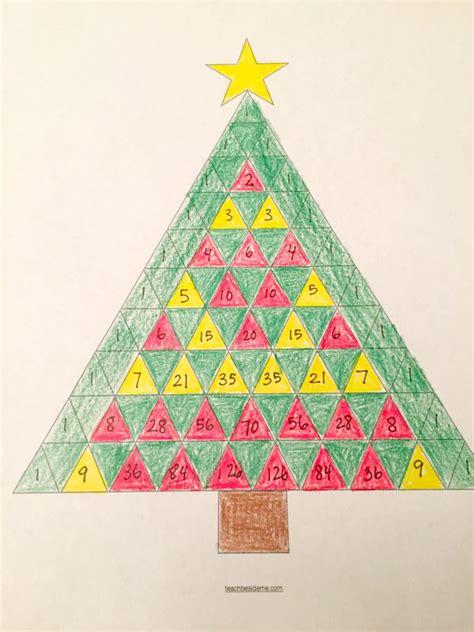 triangle template for christmas tree pascal s triangle tree math