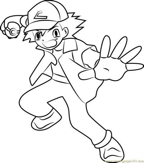 Coloring Pages Of Ash ash coloring page free ash ketchum coloring pages