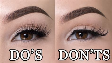 How To Wear False Eyelashes by False Lashes Do S Don Ts