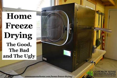 home freeze drying the the bad and the