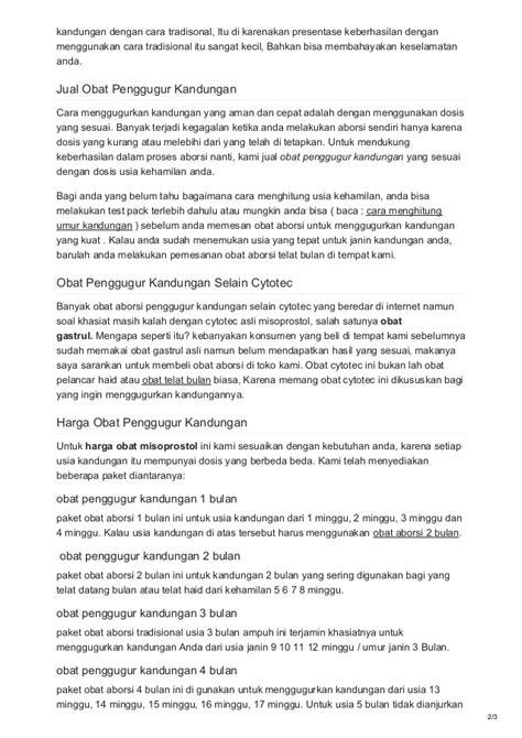 Obat Pengugur Janin Jakarta Obat Penggugur Kandungan Murah Paling Uh Di Apotik