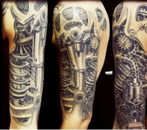 biomechanik tattoo unterarm 54 mechanical sleeve tattoos
