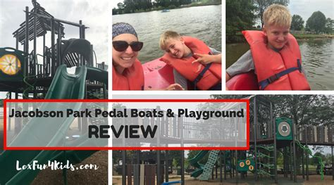 pedal boat reviews review of jacobson park playground and pedal boats
