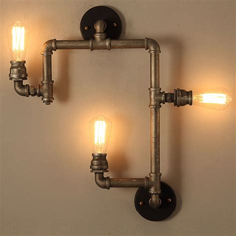 Industrial Wall Sconce Industrial Sconce Lighting Industrial Wall Pipe L Retro Wall Oregonuforeview