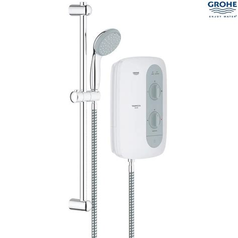 Grohe Electric Showers by Grohe New Tempesta 100 9 5kw Electric Shower White