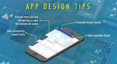 design app tips mobile app design tips to enhance user experience