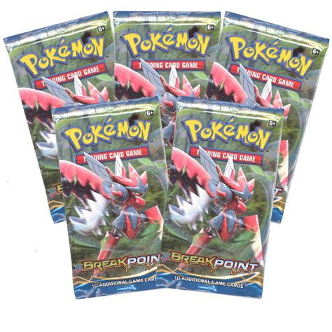 card packs cards xy breakpoint booster packs 5 pack lot