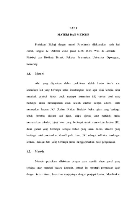 Sains Biologi 2a laporan praktikum matakuliah biologi semester 1 tahun 2012 fpp undip