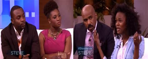 steve harvey show weave vendor curly nikki schools husband who does not like wife s