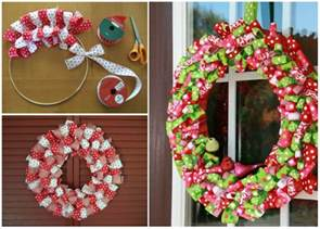 how to make a wreath how to make ribbon christmas wreath usefuldiy com