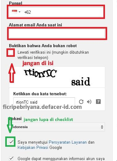 memebuat akun gmail  facebook  verifikasi  hp