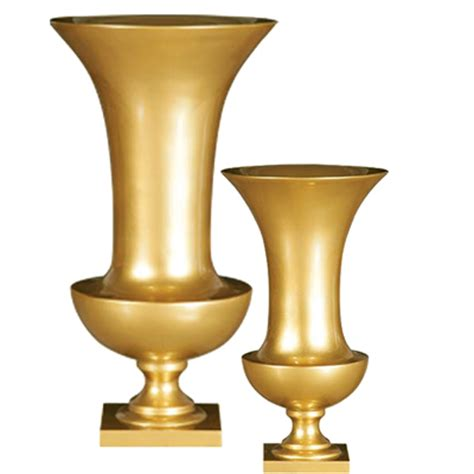 poly resin vases gold
