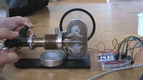 stirling engine measure rotation speed  arduino  hall effect sensor youtube