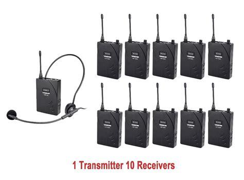 Takstar Uhf Wireless Tour Guide System 1 Receiver 1 4c7a55 Black takstar uhf 938 professional uhf wireless tour guide system for tour guiding teaching travel 1