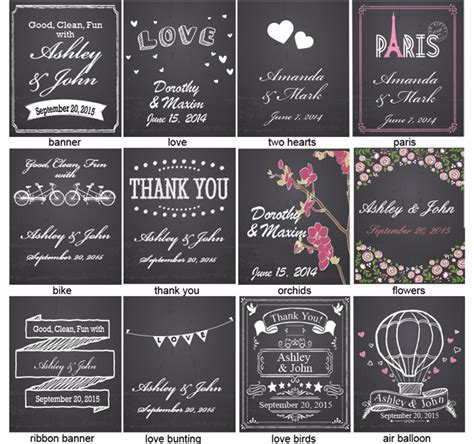 Chalkboard Wedding Personalized Hand Sanitizer Chalkboard Favors And Supplies Wedding Favor Personalized Sanitizer Label Template