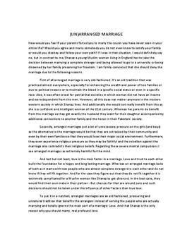 Arranged Marriage Essay by Arranged Marriage Essay Schulhilfe De