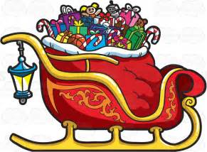 Xmas Decoration Ideas Home A Christmas Sleigh Full Of Gifts Cartoon Clipart
