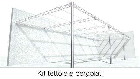 strutture in ferro per tettoie kit per tettoie e pergolati tettofacile