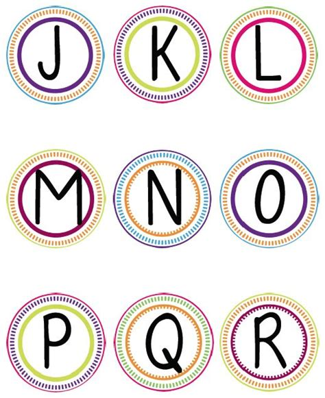 printable letters in circles word wall printable circles freebie classroom ideas