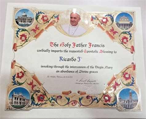 Papal Wedding Blessing Uk new customized handmade pope francis papal apostolic