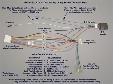 pioneer car radio wiring diagram and for alpine radio