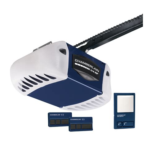 Garage Door Opener At Lowes Shop Chamberlain 3 4 Hp Power Drive Chain Garage Door
