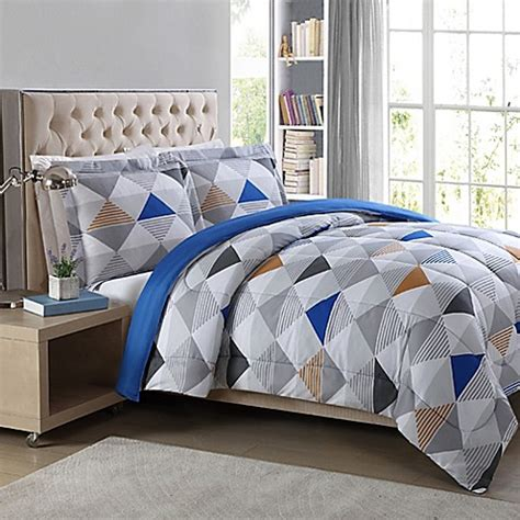 metro 3 piece geometric comforter set bed bath beyond