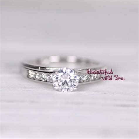 womens engagement ring promise ring for simulated