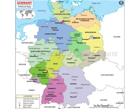 germany map political buy political map of germany