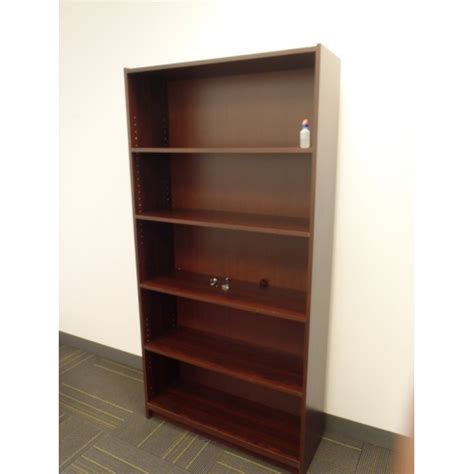 cherry bookcase bookshelf 5 shelves 36x12x72