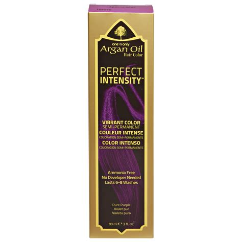 argan hair color one n only argan hair color intensity purple