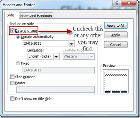 Delete The Header And Footer In Word And Powerpoint 2010 Powerpoint 2010 Footer