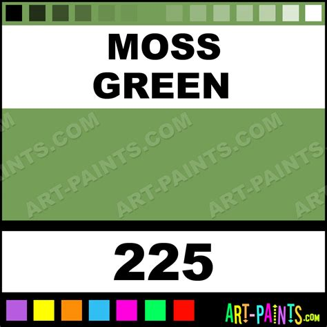 moss green colours acrylic paints 225 moss green paint moss green color caran d ache