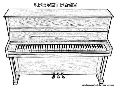 coloring page piano keys mighty piano musical instrument coloring piano free
