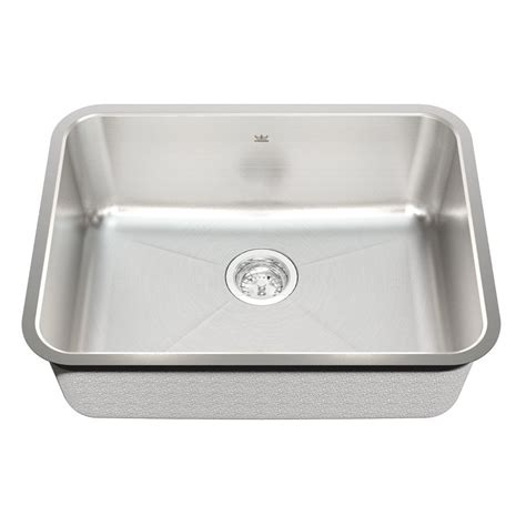Kitchen Sink Stainless Steel 50c kindred kss6ua 9d 18 undermount stainless steel kitchen sink lowe s canada