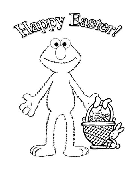 Elmo Easter Coloring Pages To Print | easter crafts for kids all kids network
