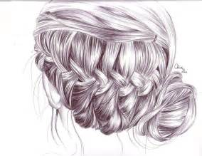 sketches of hair braid hair drawing by tinespoon on deviantart