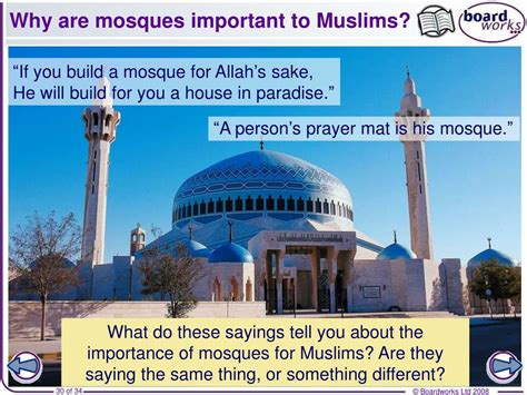 Why Do Muslims Pray On A Mat by Ppt Ks3 Religious Studies The Mosque Powerpoint