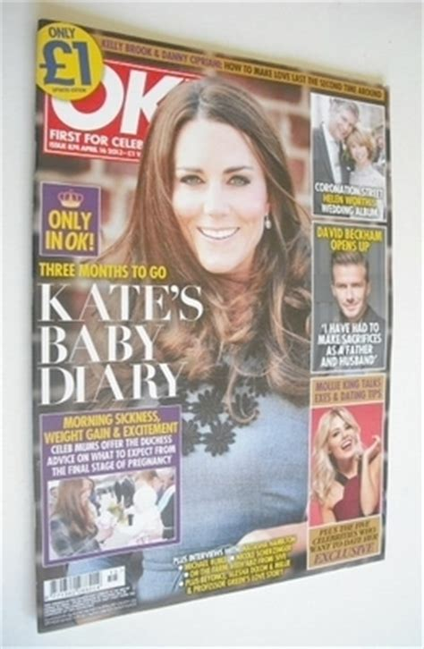 Kate In Magazine I Am A Bit Wacky by Ok Magazine Kate Middleton Cover 16 April 2013 Issue