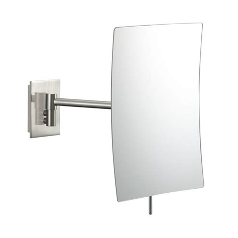 wall mounted makeup mirror wall mounted makeup mirror rectangular 3x in wall mirrors