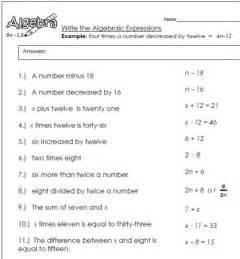 writing math expressions worksheets defendusinbattleblog