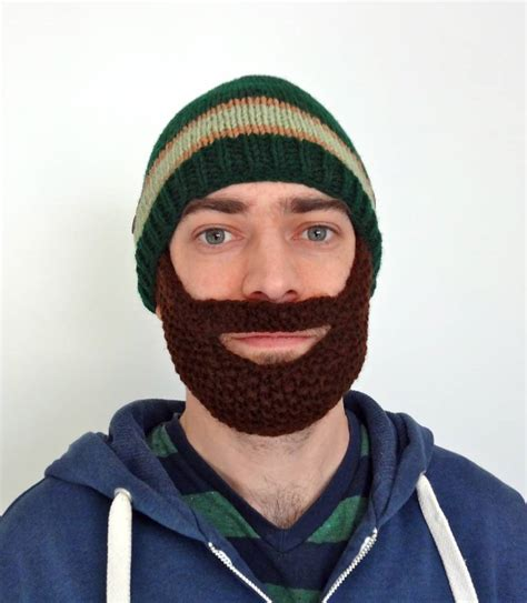 knitted hat with beard knitting archives lil bit