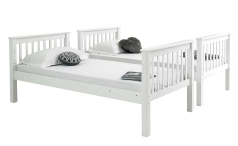 White Wooden Bunk Beds With Mattresses Betternowm Co Uk Brazil Atlantis Solid Pine Wooden Bunk Bed With 2 X Mattresses Colour