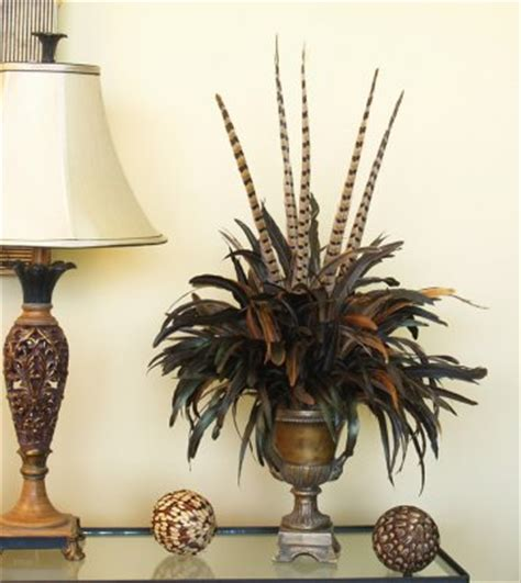 feather bouquet floral design in urn nc123 79