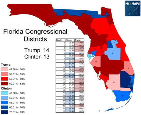 florida congressional districts map how florida s congressional districts voted and the impact